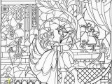 Beauty and the Beast Stained Glass Window Coloring Page Beauty and the Beast Stained Glass Window Coloring Page Simple