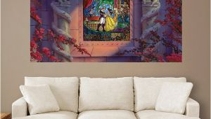 Beauty and the Beast Wall Mural Beauty and the Beast Stained Glass Mural Huge Ficially
