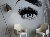 Beauty Salon Wall Murals Beauty Salon Eyes Wall Sticker Vinyl for Bedroom Decor for Girls Salon Decoration Decal Stickers the Wall Murals Wallpaper Decals for Home Walls