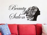 Beauty Salon Wall Murals Beauty Salon Wall Stickers Flowers Woman Vinyl Art Wall Decals Removable Adhesive Paintings the Wall Wall to Wall Stickers Wall Transfer Quotes