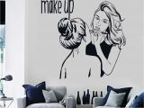 Beauty Salon Wall Murals Vinyl Wall Decal Make Up Artist Cosmetic Beauty Salon