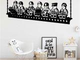 Bedroom Wall Mural Stickers Custom Name Lego Swing Vinyl Wallpaper Wall Stickers