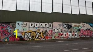 Belfast Peace Wall Murals Belfast Divided In the Name Of Peace Uk News