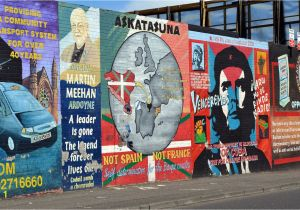 Belfast Peace Wall Murals Best Black Taxi tour In Belfast Troubles Murals On Falls and
