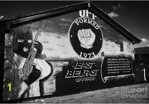 Belfast Wall Murals tour Uff Loyalist Wall Mural East Belfast Art Print