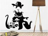 Ben and Holly Wall Mural Banksy Rat Wall Decal Sticker Vinyl Decor Mural Street Art Hip Hop Ghetto Rap