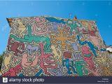 Berlin Wall Mural Keith Haring Keith Haring 1989 Stock S & Keith Haring 1989 Stock