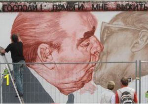 Berlin Wall Mural Kiss Dmitry Vrubel S Mural Of Ussr President Leonid Brezhnev Kissing East