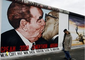 Berlin Wall Mural Kiss East Side Gallery – Berlin