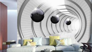 Best 3d Wall Murals Wall Mural Futuristic Tunnel