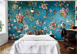 Best Paint for Wall Mural Indoor Wall Mural Wallpaper Plum Blossom Peach Apple Blossom Tree