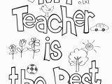 Best Teacher Coloring Page Teacher Appreciation Coloring Sheet
