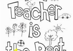 Best Teacher Ever Coloring Pages Teacher Appreciation Coloring Page Thank You Gift Free Printable