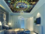Best Type Of Paint for Wall Murals 3d Strasbourg Cathedral Ceiling Printed Waterproof Durable