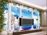 Best Wall Mural Company Großhandel 3d Fototapete Benutzerdefinierte 3d Wandbilder Wallpaper Mural Fantasie 3d Stereo Europäische Griechische Römische Säule Tv Hintergrund