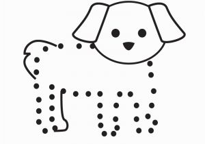 Betsy Ross Coloring Pages Free Dog Connect the Dots Activity Printable for Beginning Preschoolers
