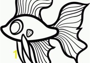 Betta Fish Coloring Pages Beautiful Fish Drawing at Getdrawings