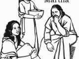 Bible Coloring Pages Mary and Martha Maria
