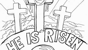 "Bible Easter Coloring Pages Easter Coloring Page for Kids ""he is Risen"" the Blog Has"