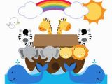 Bible Story Murals Noahs Ark Wall Mural Decals Bible Story Baby Nursery Safari Animals