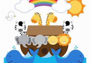 Bible Story Murals Noahs Ark Wall Mural Decals Bible Story Baby Nursery Safari Animals