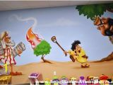 Bible Story Wall Murals Moses David and the Giant Mural