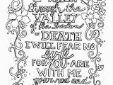 Bible Verse Bible Coloring Pages for Adults Valley Of the Shadow