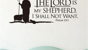 Bible Verse Murals Psalms 23 the Lord is My Shepherd Wall Lettering Mural Vinyl Decals