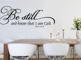 Bible Verse Wall Murals Be Still and Know Christian Wall Decal