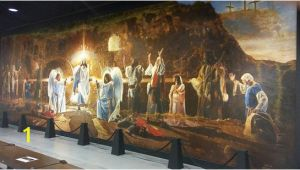 Biblical Murals the Resurrection Mural Shows Biblical Characters Celebrating