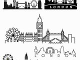 Big Ben Coloring Page London Skyline Tattoo Google Search