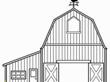 Big Red Barn Coloring Pages 2539 Barn Free Clipart