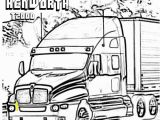 Big Truck Coloring Pages for Kids Kenworth T2000 Truck Coloring Page