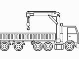 Big Truck Coloring Pages Learn Colors with Big Crane Truck Coloring Pages for Kids