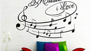 Big Wall Murals Cheap Amazon Na Giant Wall Decals Music I Love Art Design