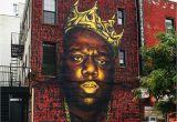 Biggies Wall Mural Biggie Smalls Mural In Bed Stuy May E Down Brownstoner