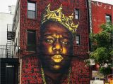 Biggies Wall Mural Biggie Smalls Mural In Bed Stuy May E Down Brownstoner