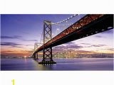 Biggies Wall Mural Biggies Wall Mural 60 X 120 San Francisco Bay Bridge Fice Depot