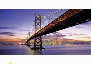 Biggies Wall Mural Biggies Wall Mural 60 X 120 San Francisco Bay Bridge Fice Depot