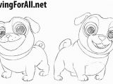 Bingo and Rolly Coloring Pages How to Draw Puppy Dog Pals