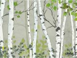 Birch Tree forest Wall Mural Hand Painted Oil Painting Birch Trees Wallpaper Wall Mural Trees forest Birch Wall Mural Oil Painting Birch Wall Mural for Home Decor