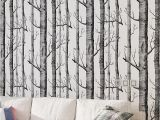Birch Tree forest Wall Mural Us $28 0 Off Black White Birch Tree Wallpaper for Bedroom Modern Design Living Room Wall Paper Roll Rustic forest Woods Wallpapers In Wallpapers