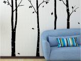Birch Tree Wall Mural Diy Birch Tree Wall Sticker Family Tree Wall Decals Diy Birch Tree