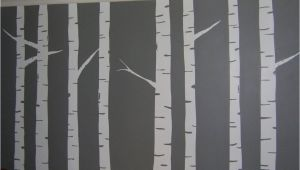 Birch Tree Wall Mural Diy Diy Painted Birch Tree Wall