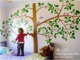 Bird and Owl Tree Wall Mural Set Children Wall Decal Wall Sticker Art Giant Tree Wall Decal