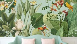 Birds Of Paradise Wall Mural Birds Of Paradise Tropical Wall Mural