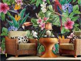 Birds Of Paradise Wall Mural southeast asian Rainforest Plant Wall Murals Wall Decor