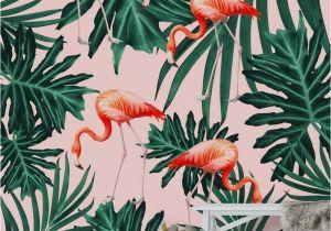 Birds Of Paradise Wall Mural Summer Flamingo Jungle Vibes 1 Wall Mural Wallpaper