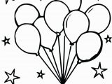 Birthday Balloons Coloring Pages Coloring Book Outstanding Balloon Coloring Pages Picture