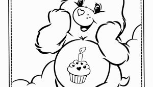 Birthday Care Bear Coloring Pages Bear Coloring Pages for Adults Printable